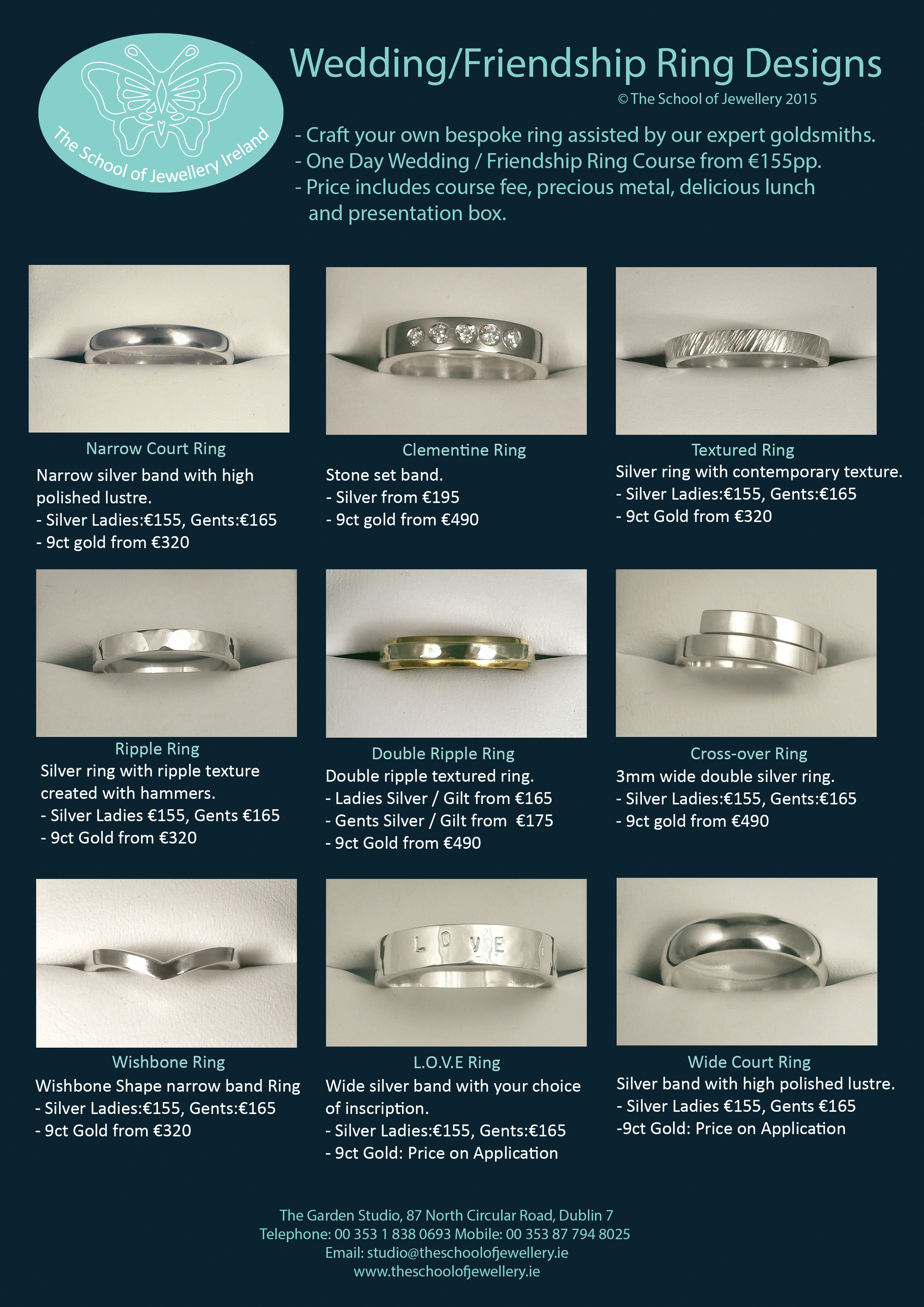 The school of jewellery ireland see our wedding ring design brochure click here to view our one day ring course gallery if you have a particular design in mind please feel free to junglespirit Images